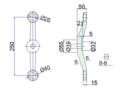 structural cad details for spider fitting system