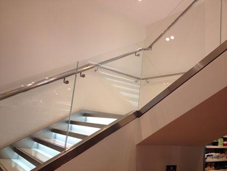 handrail bracket for glazed balustrade project 3