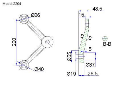 adjustable spider fittings for storefront curtain wall