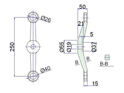 structural cad details for spider fitting system