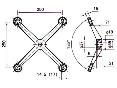 glass spider fitting details for structural glass