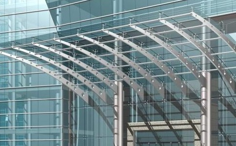 Spider glass system features